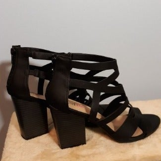Women's Strappy Block Heeled Sandal