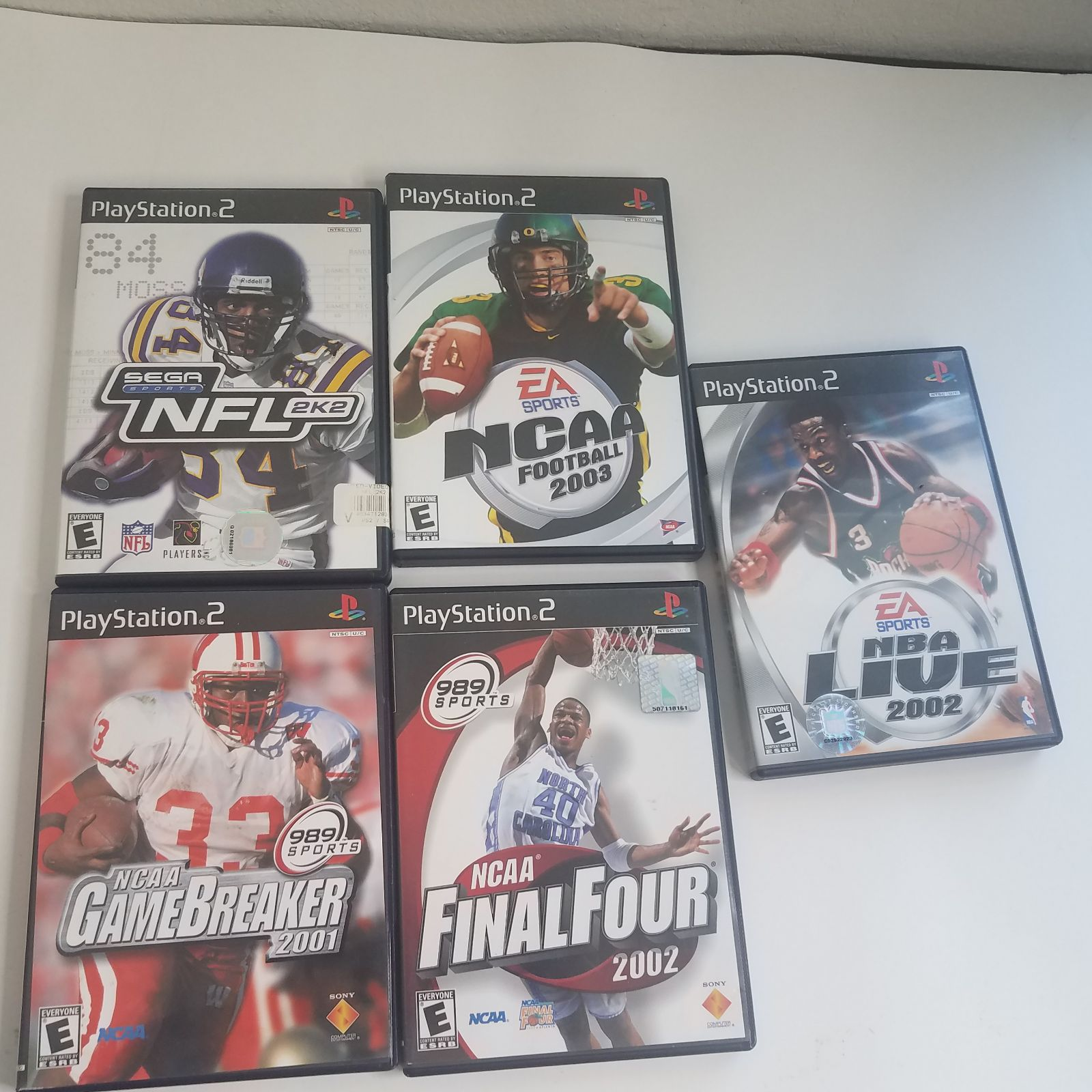 Untested PS2 lot 5 games