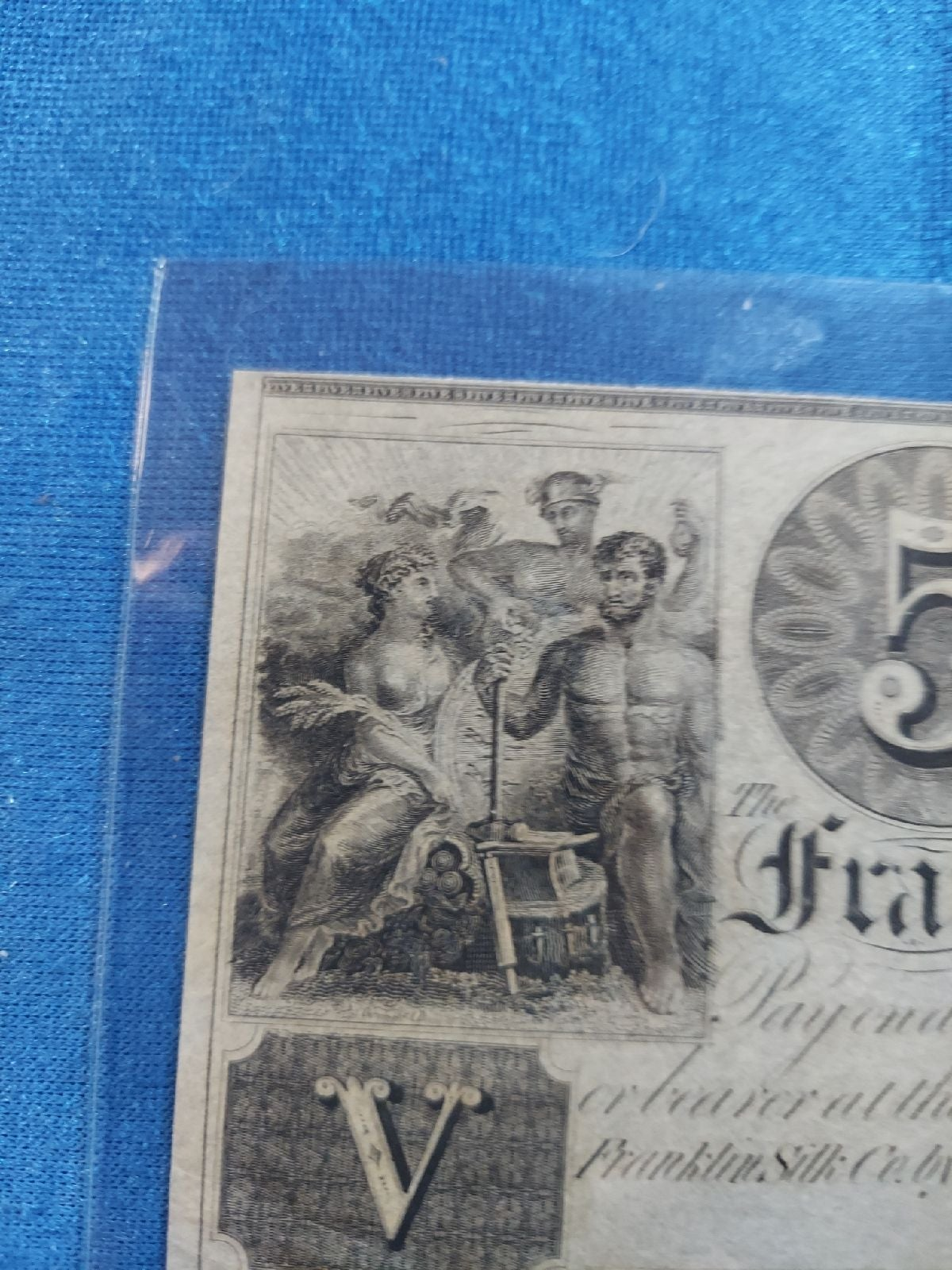 RARE Paper money, $5 currency 1833-38 UN