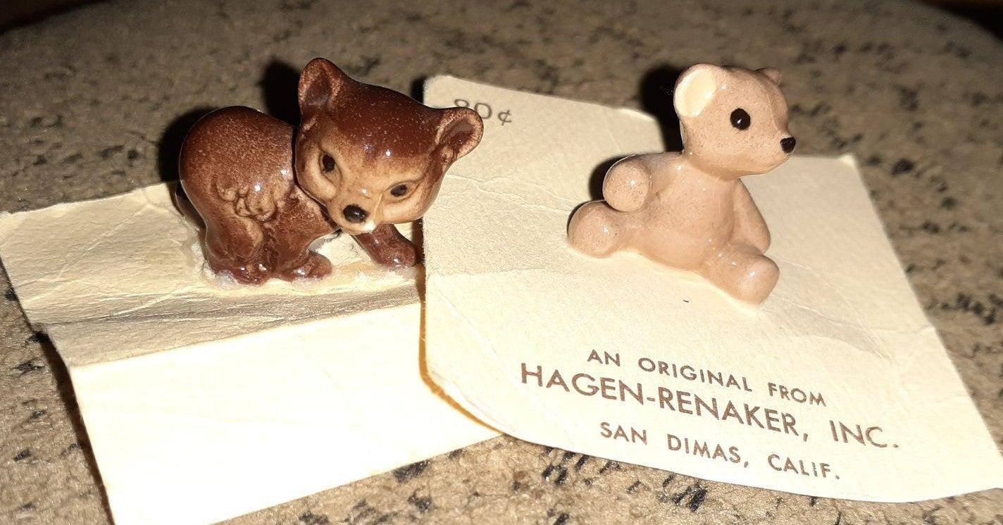 2 Vtg Retired Hagen-Renaker Tiny Bears