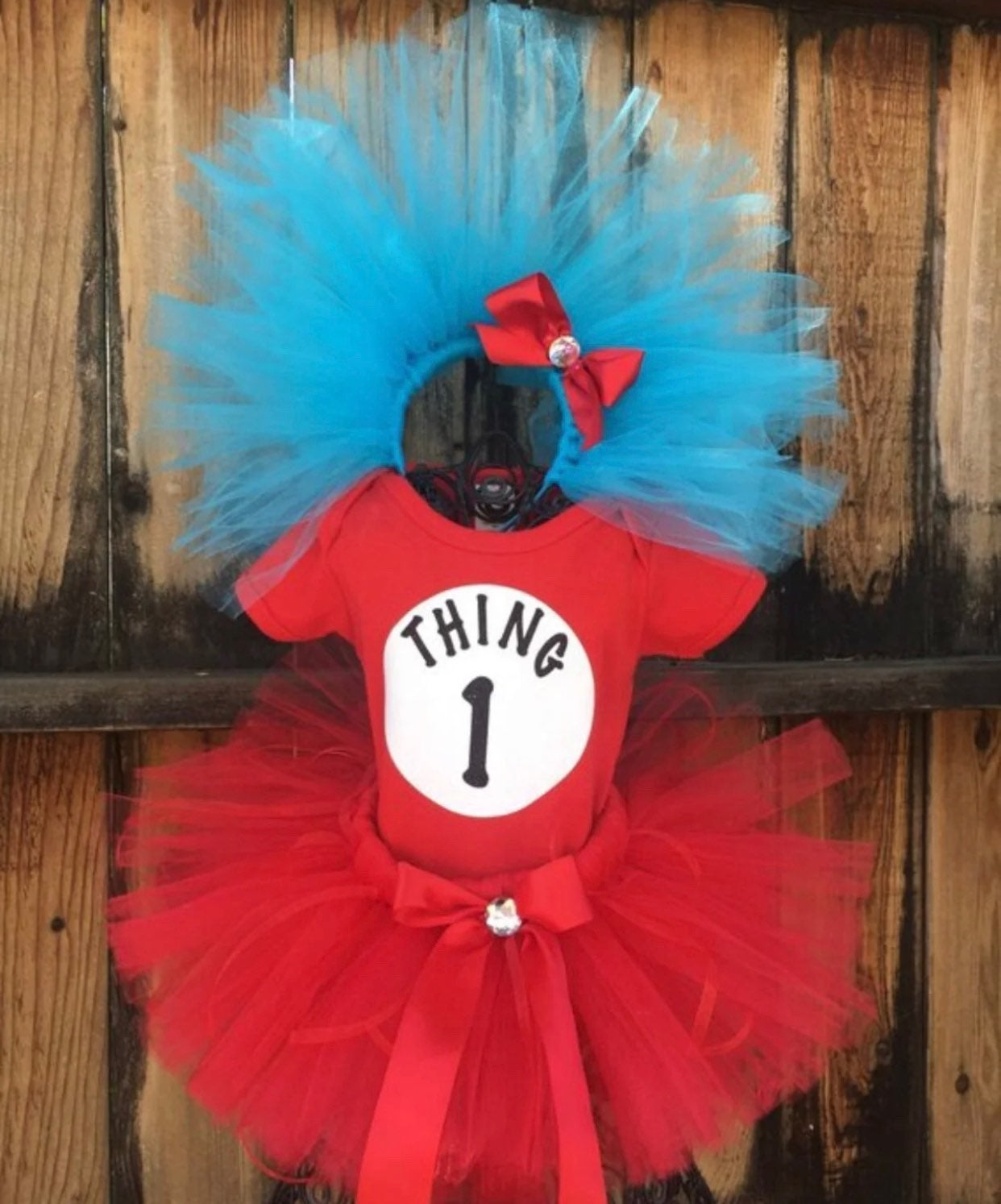 Inspired Thing 1 or Thing 2 Size Newborn