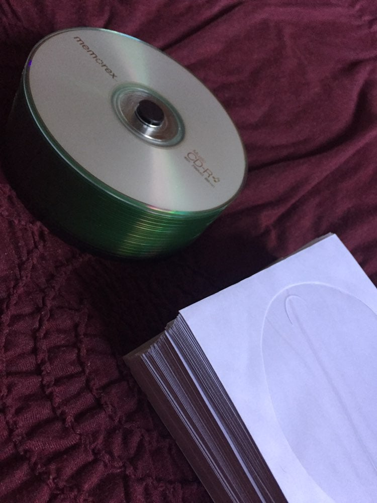 CD-R discs with slip covers
