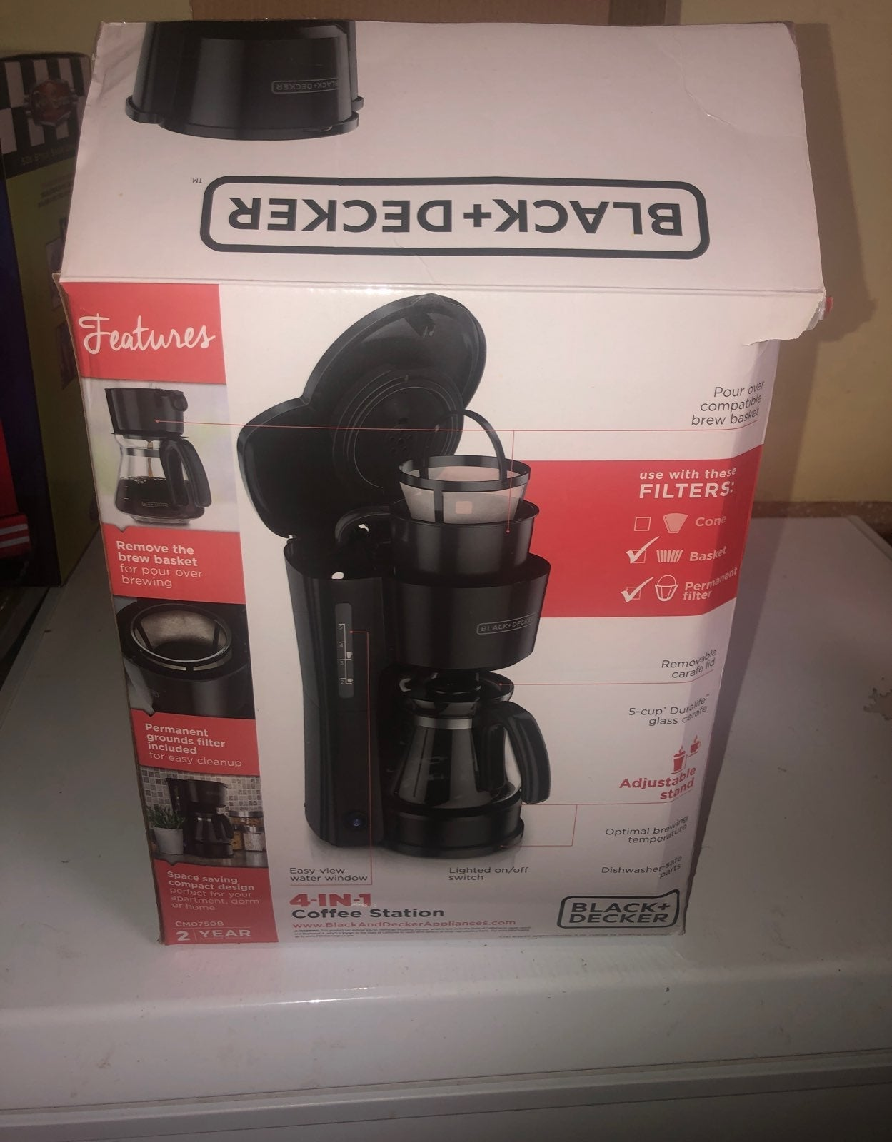 New! Black Decker 4-In-1 Coffee Station