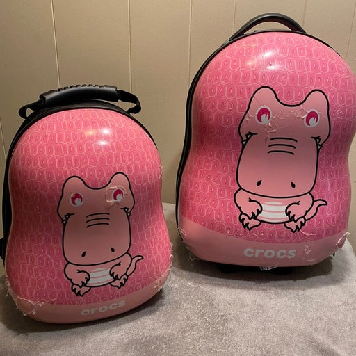 Crocs 2 piece Luggage Set- Pink Dino