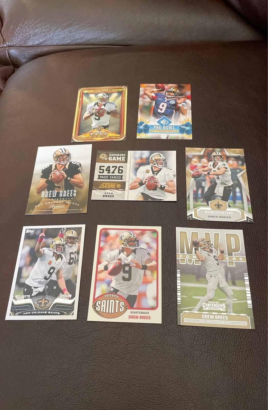 Drew Brees 8 Card Lot