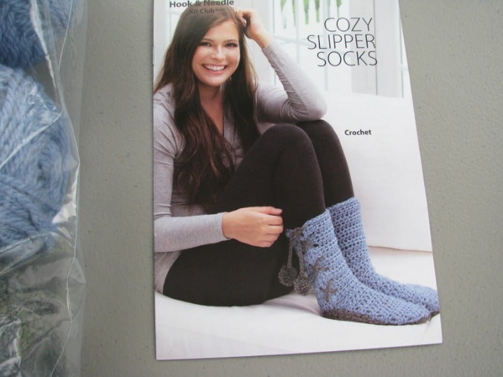 Annie's Cozy Slipper Sock Kit Yarn