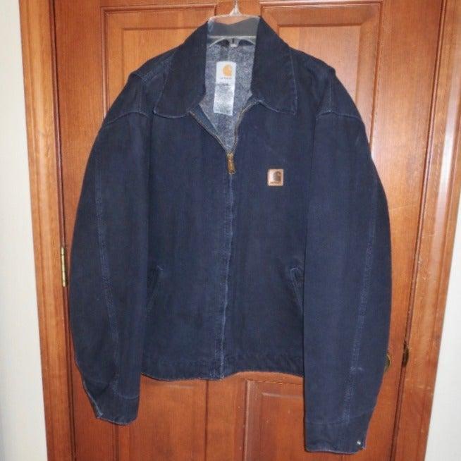 XL CARHARTT Navy Blanket Lined Jacket