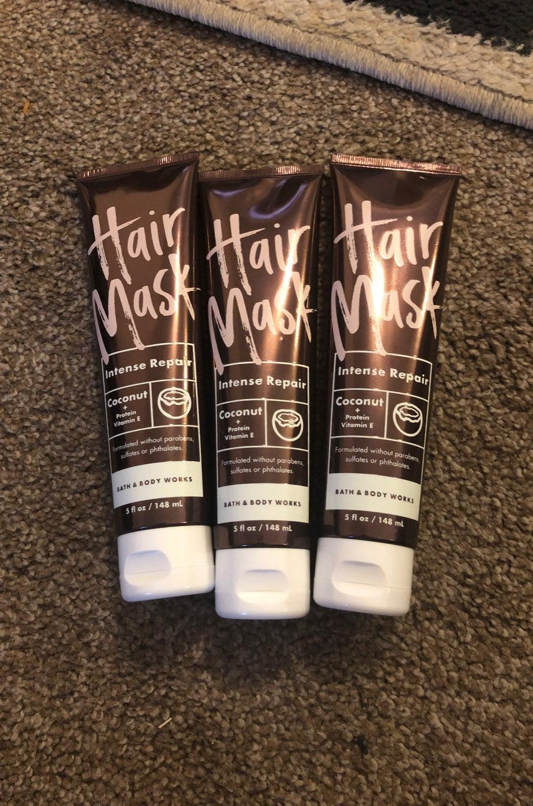 Bath and Body Works hair mask