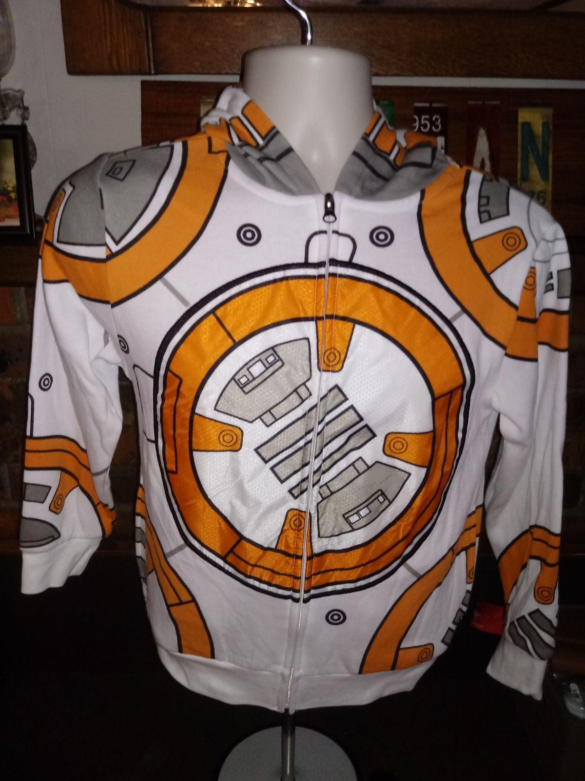 Star Wars BB-8 Hoodie Sz M Orange/White