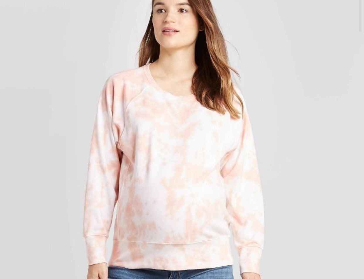 Isabel maternity tie dye sweatshirt med
