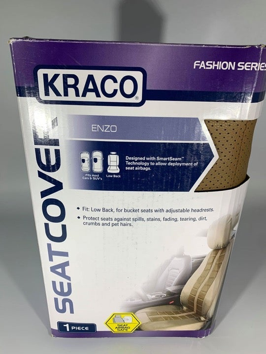 Kraco Seat Cover 1 Seat Airbag Safe