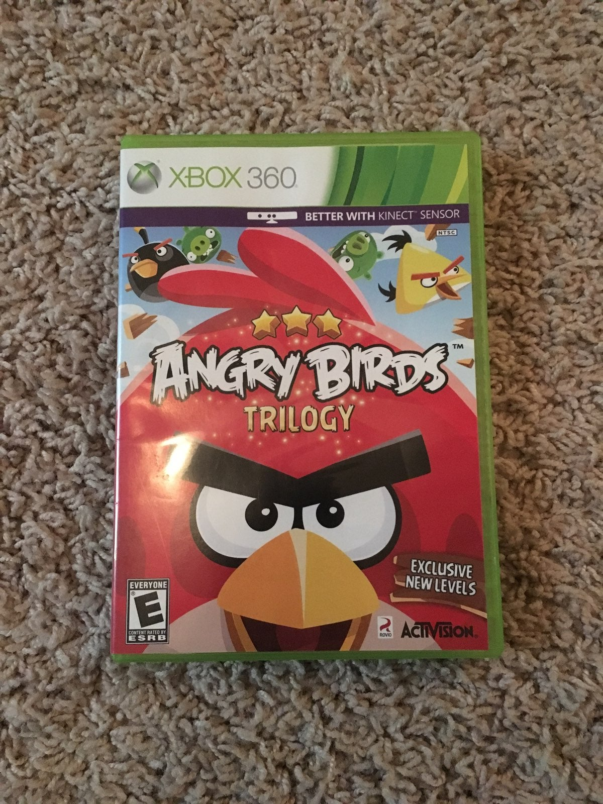 LIKE NEW Angry Birds Trilogy XBOX 360