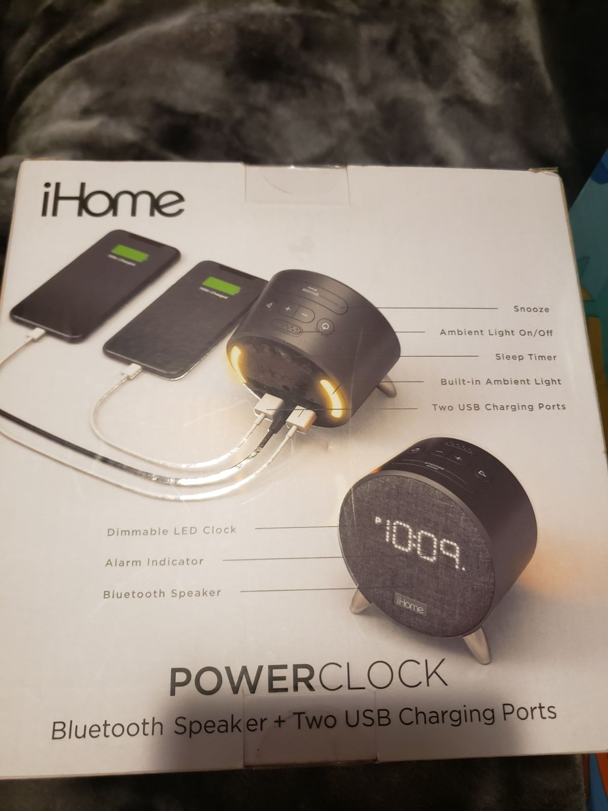 ihome alarm clock and charging station.