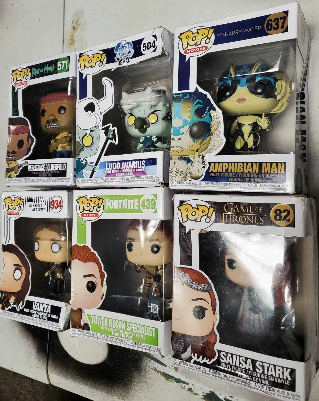 Lot of 6 pop