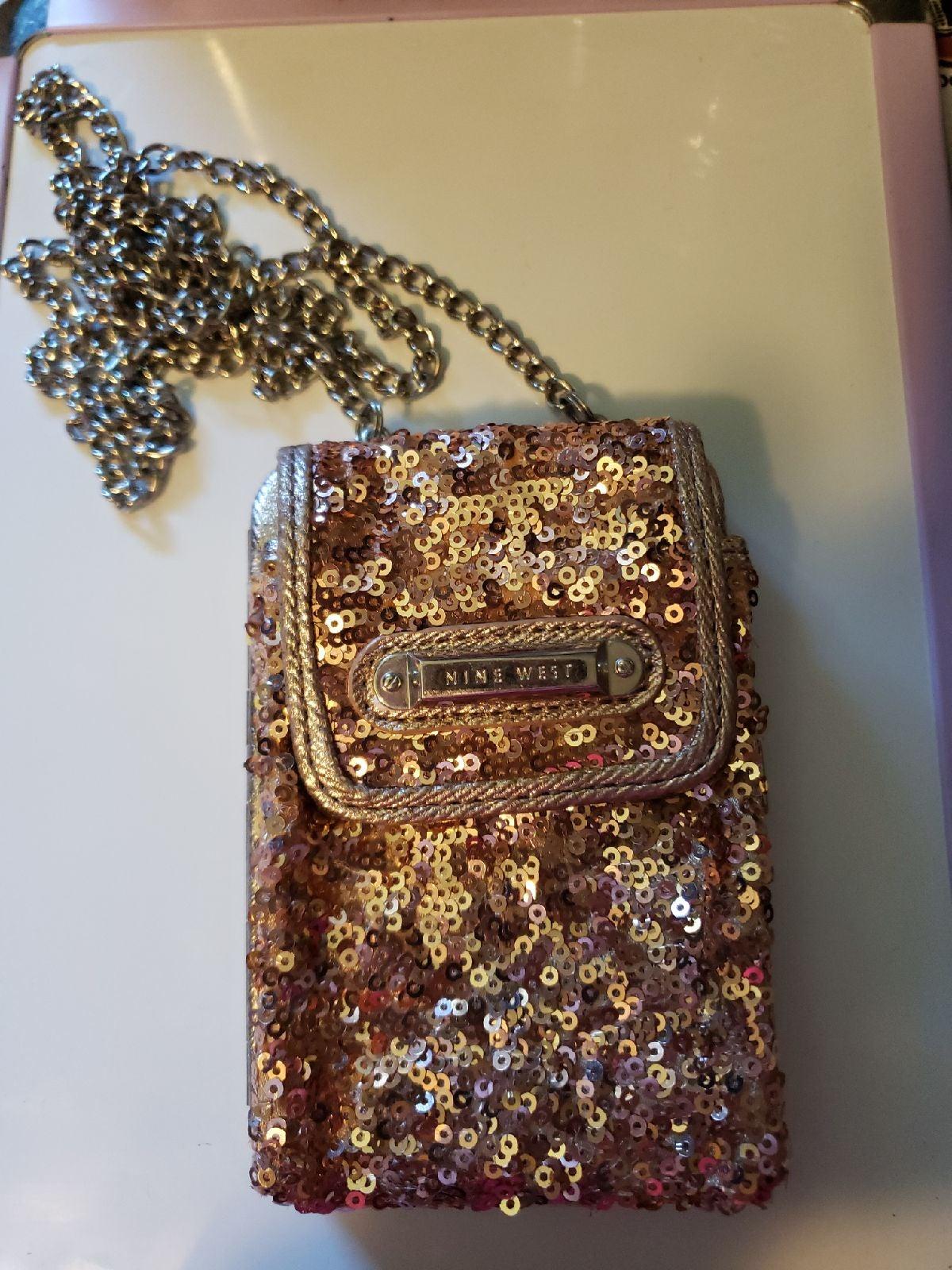 Nine West rose gold chain purse.