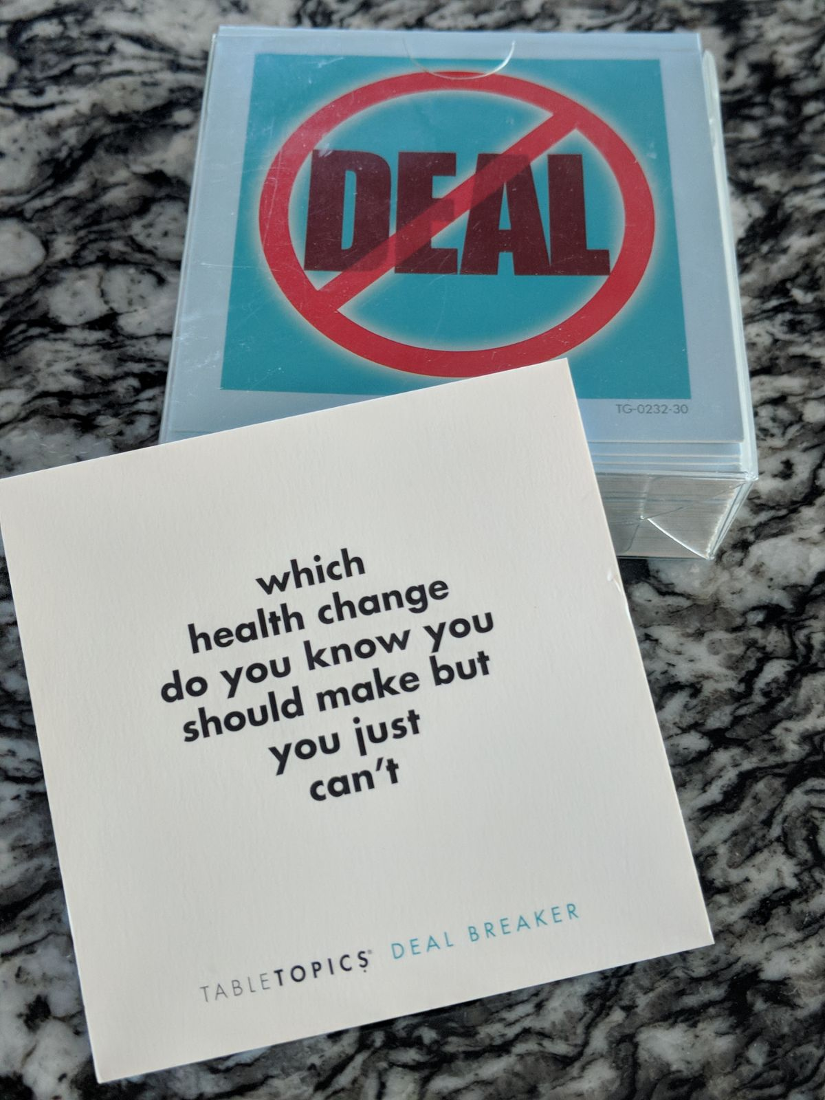 Deal Breakers Table Topics cards