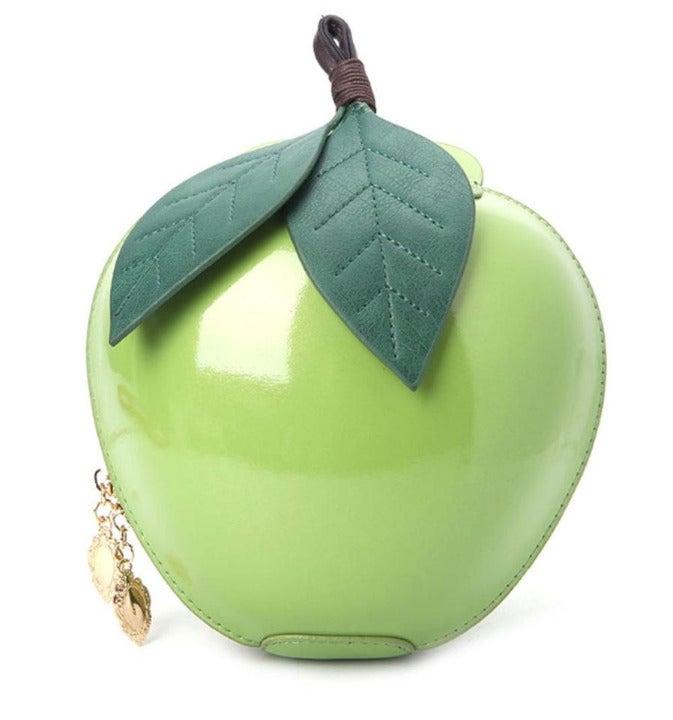 3D Green Apple Coin Purse Bag Charm
