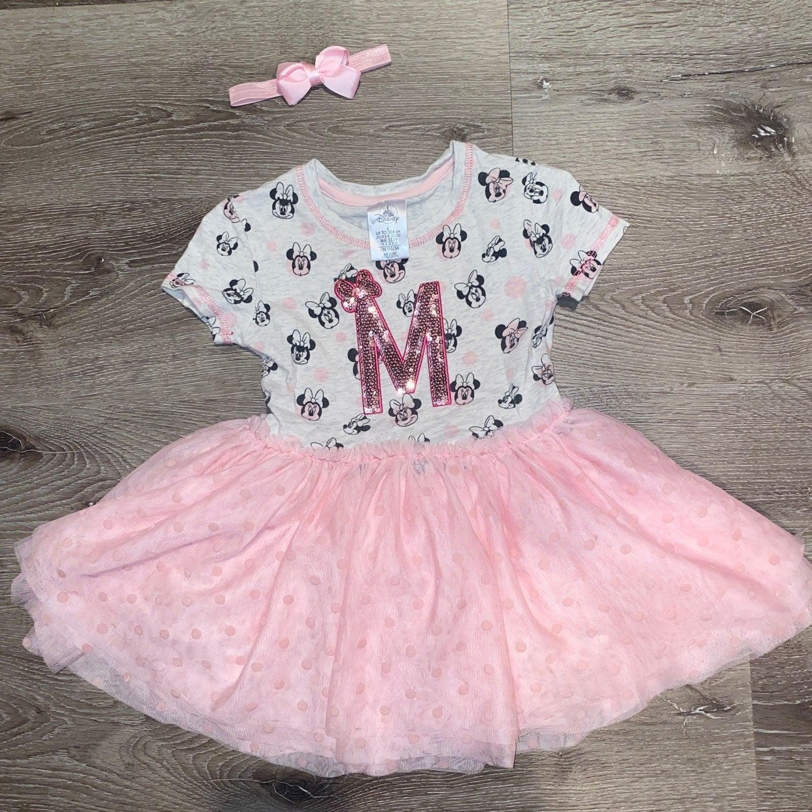 Disney Store Minnie Pink Dress 4t