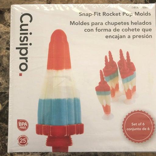 Popsticle stick molds (rockets)