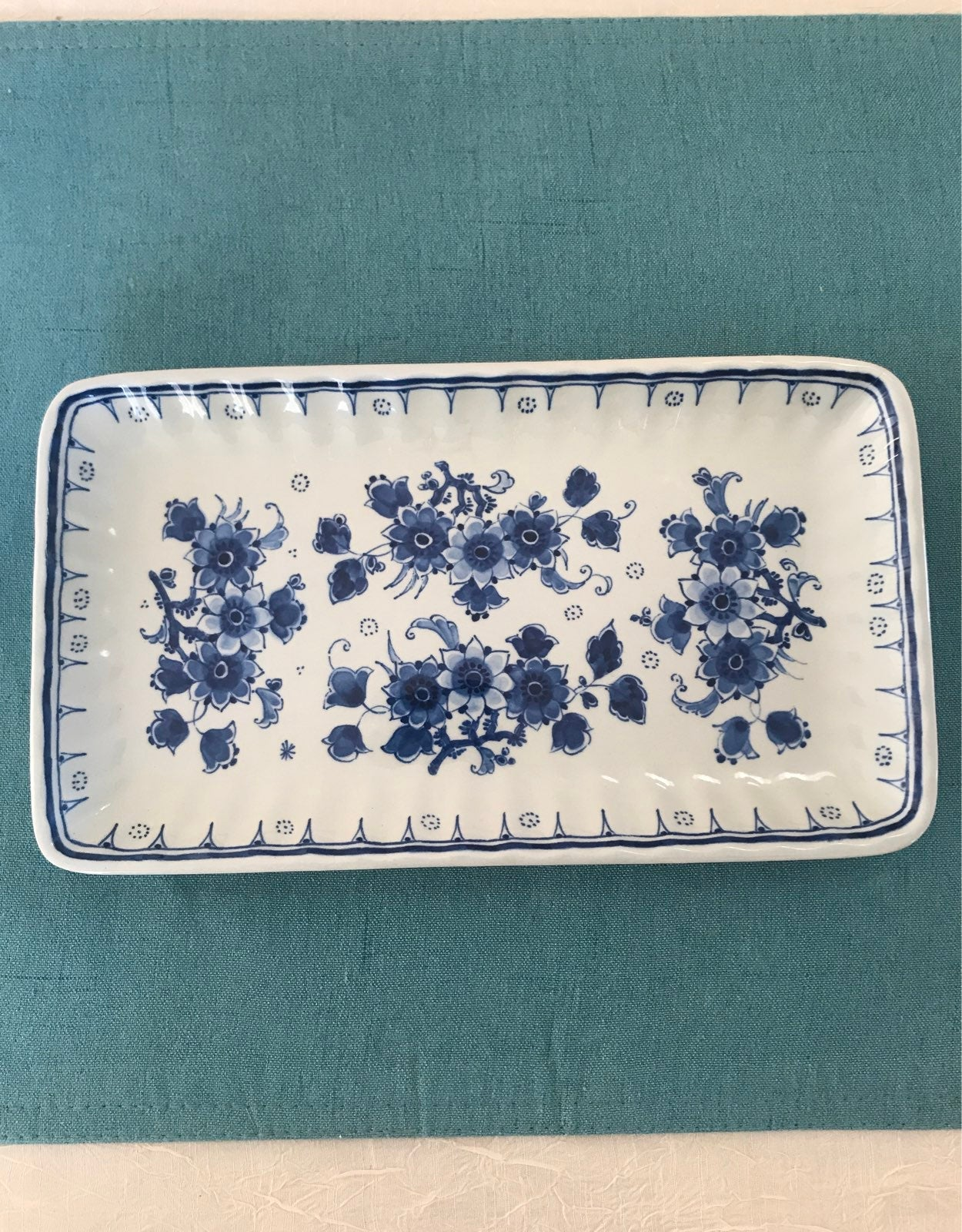 Vintage Porcelain Serving tray by Delft