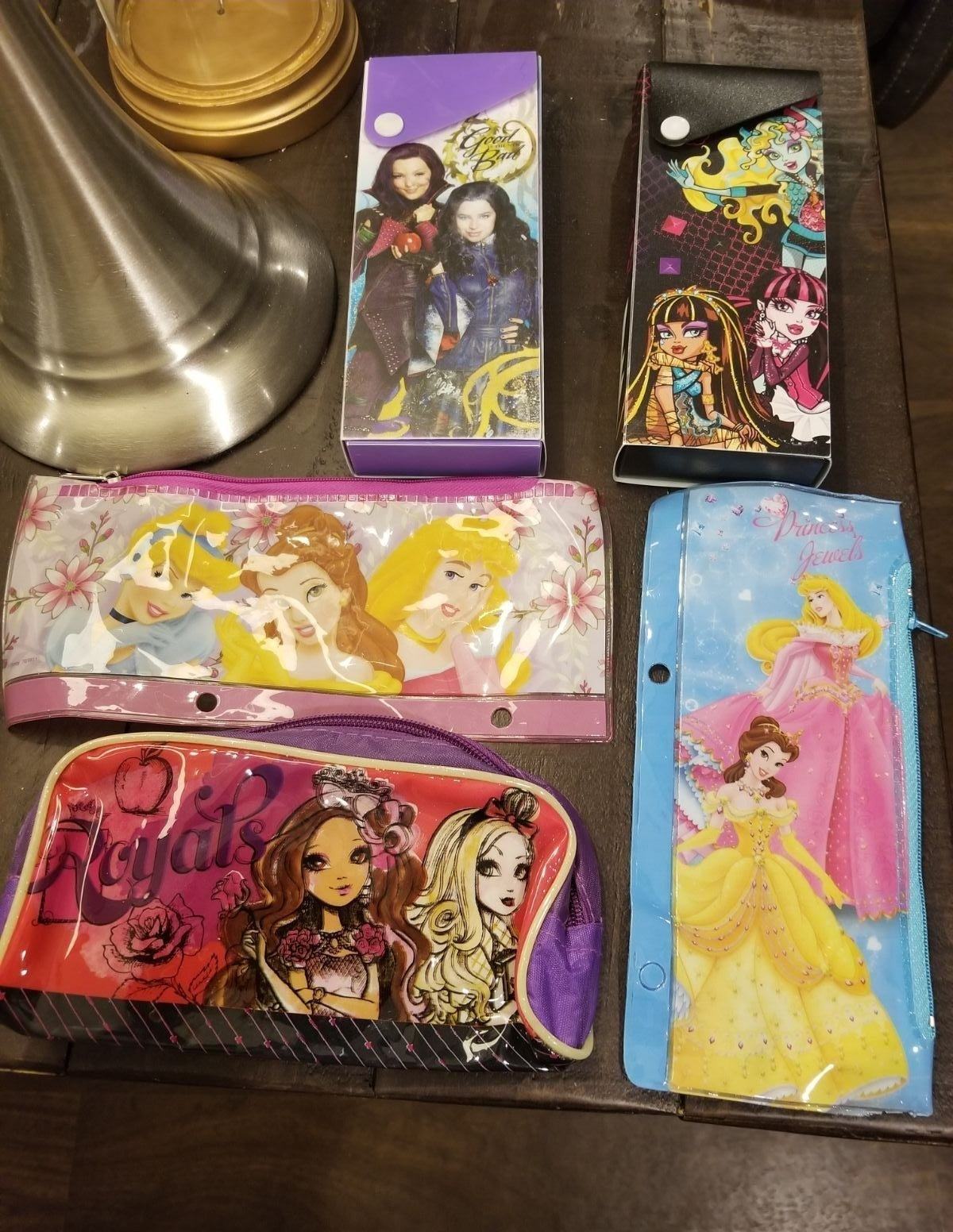 5 Pencil cases Disney Monster High