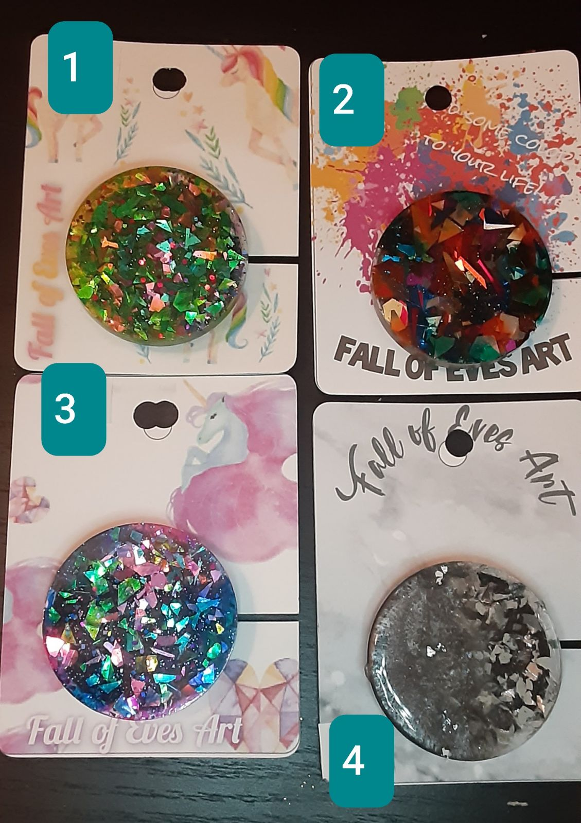Colorful Foil Phone Grips