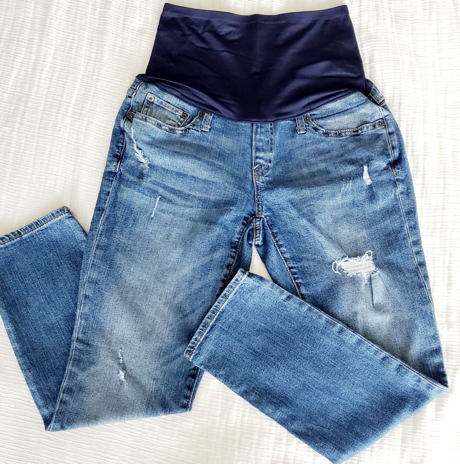 GAP Distressed Maternity Jeans
