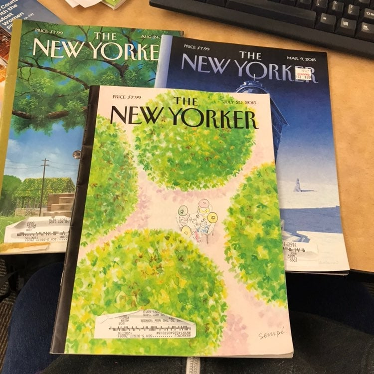 The New Yorker Magazine -3 Issues 2015