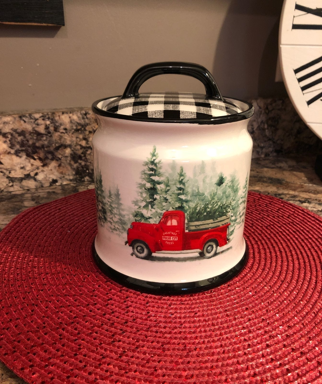 Buffalo Check Canister/Cookie Jar