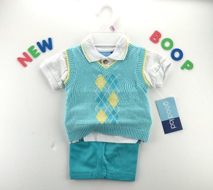 Boys Clothes Outfit Shirt 3 PC sz 6/9m