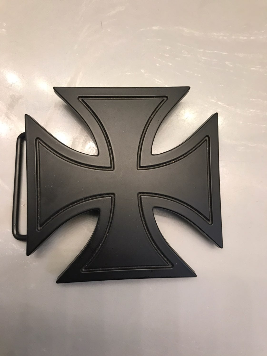 Silver Star Iron Cross Buckle