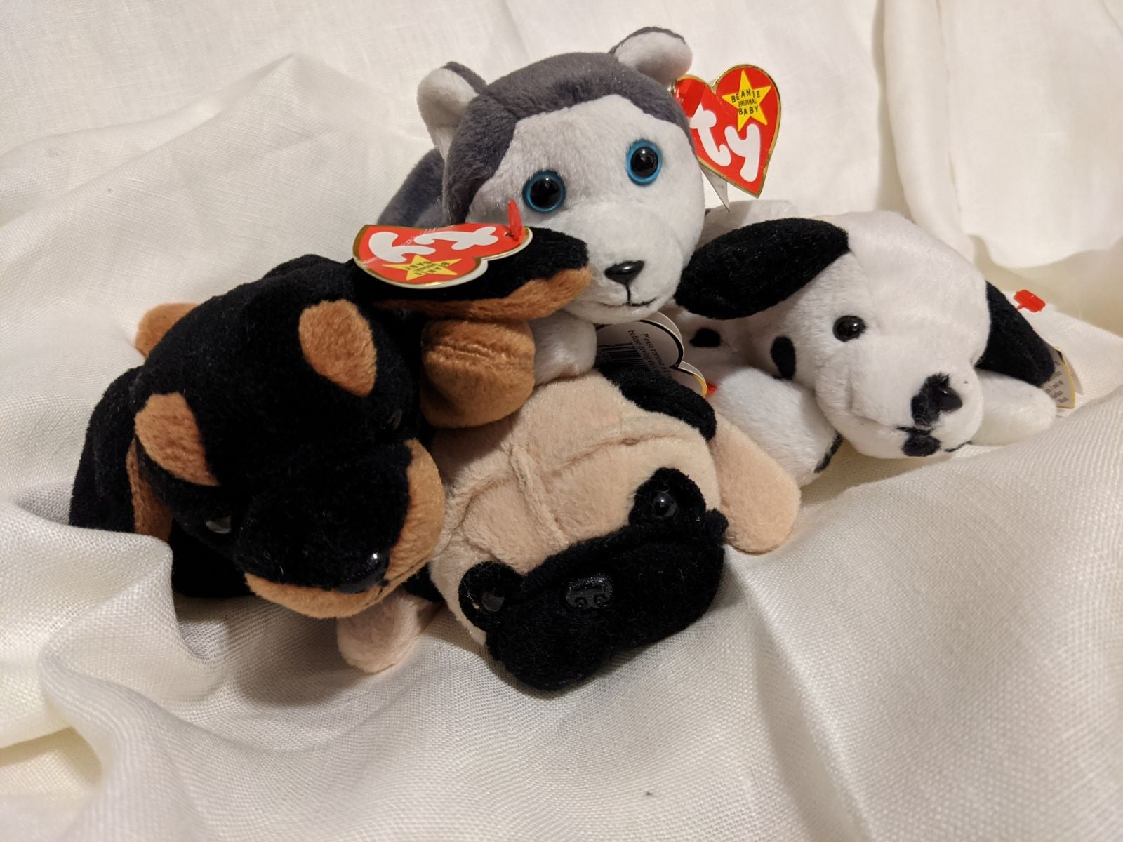 Ty Beanie Babies Puppies Lot of 4