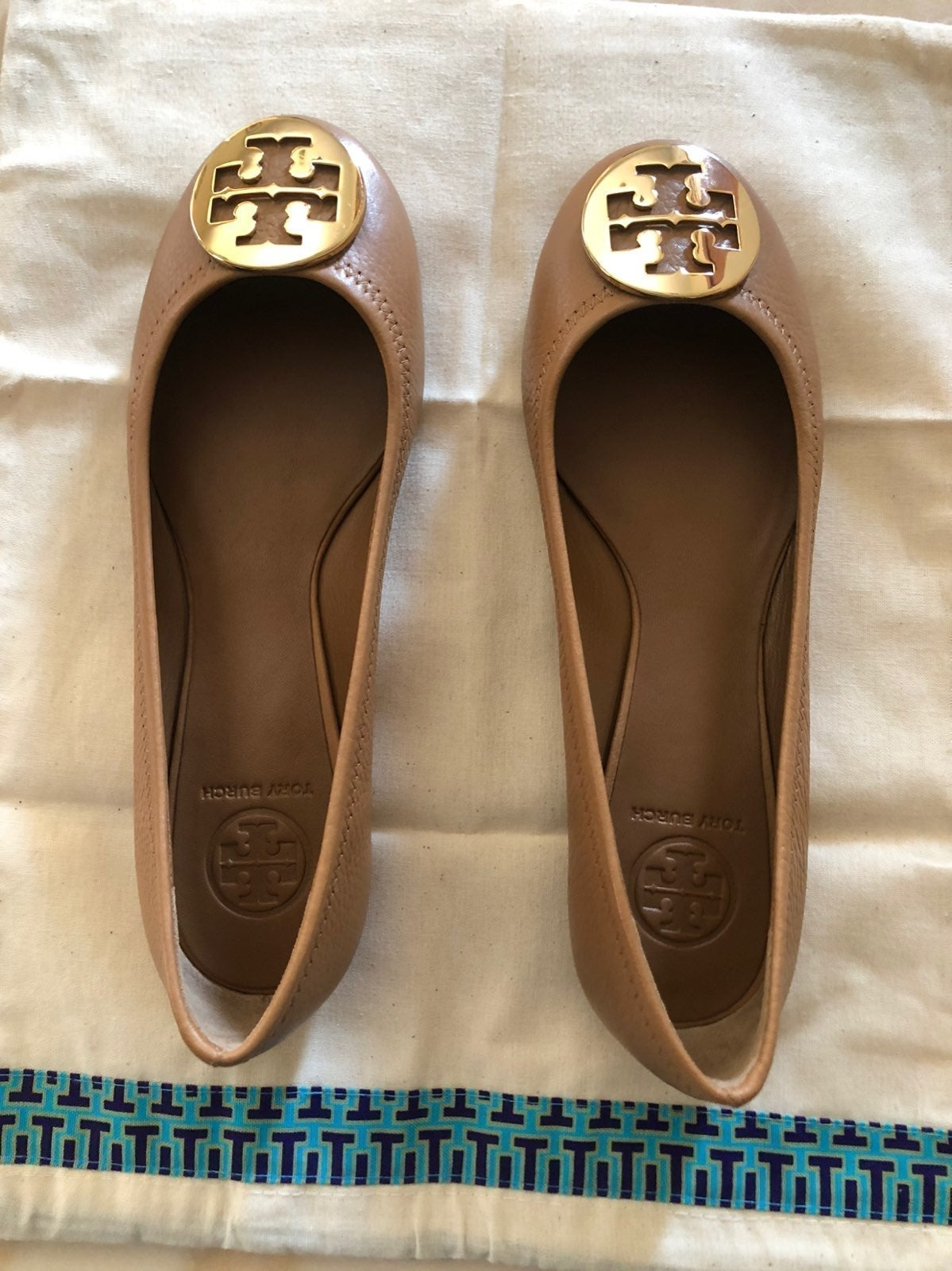 Tory Burch Leather Ballet -  New - 7.5