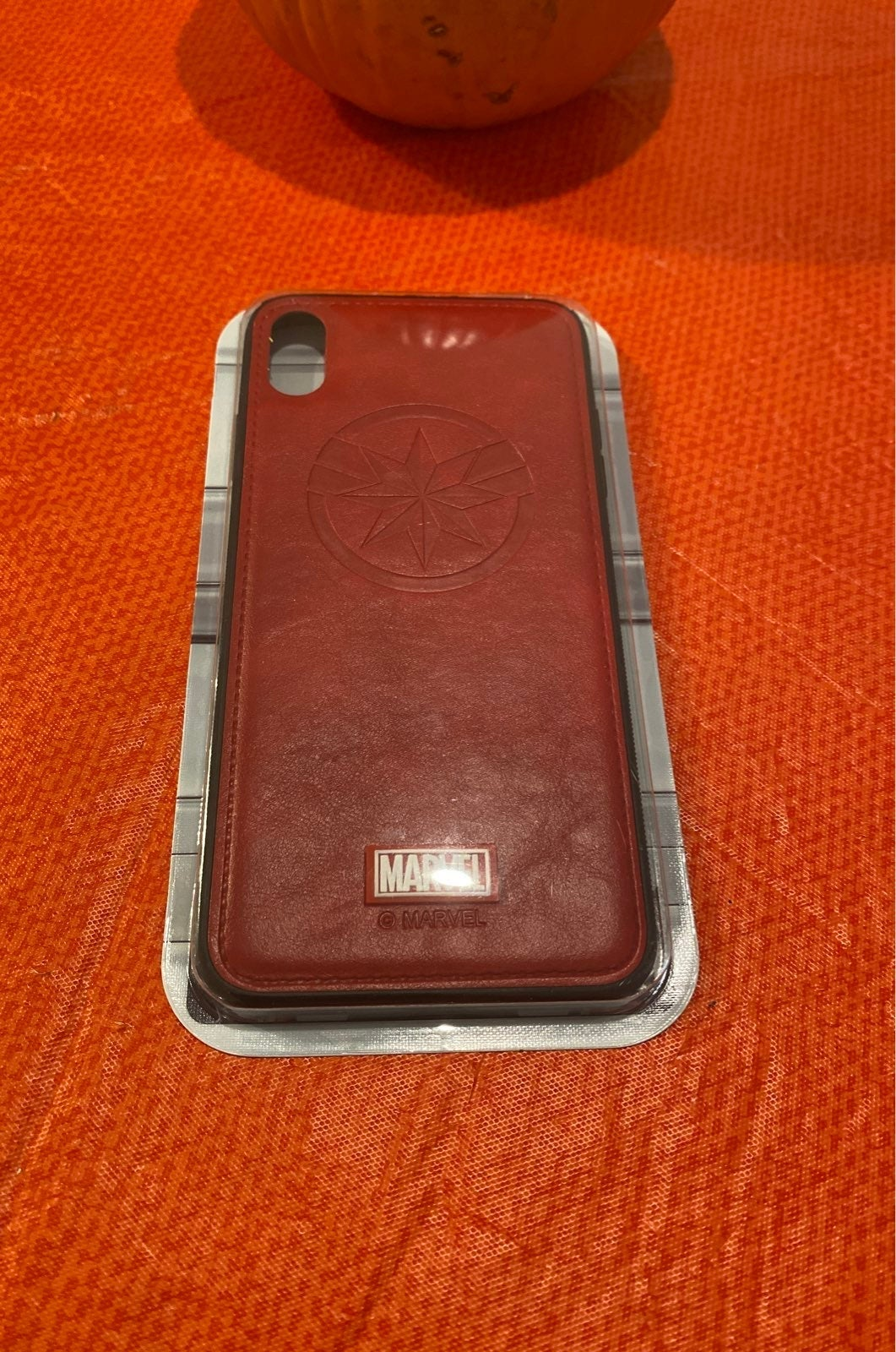 Captain Marvel Leather iPhone X/S & X Ca