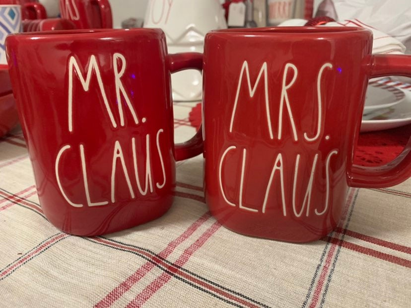 Mr Clause and Mrs Clause Rae Dunn Mugs
