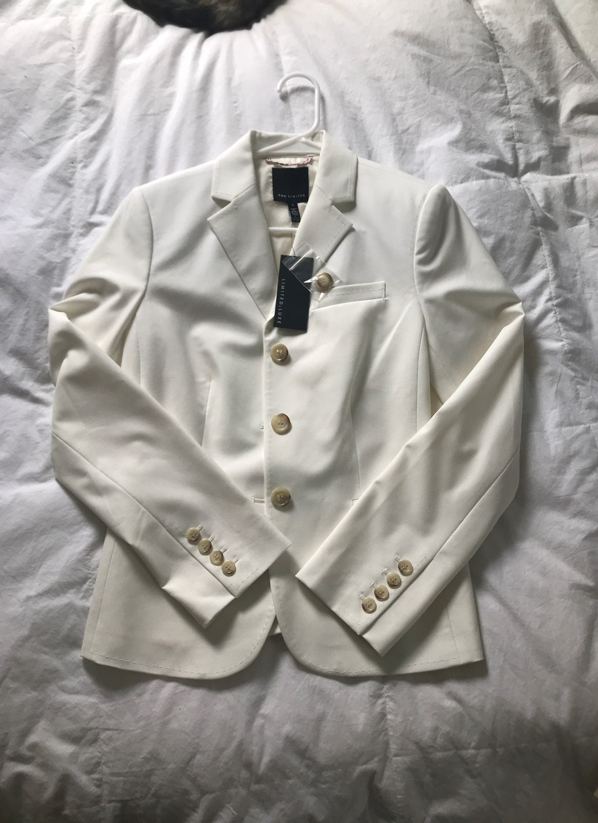 The Limited White Blazer by The Limited