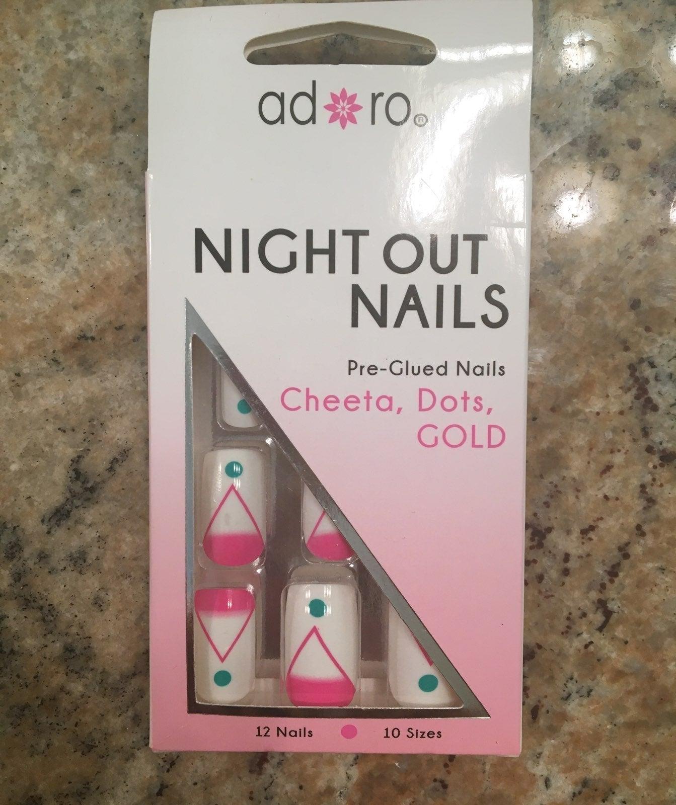 Pre glued nails