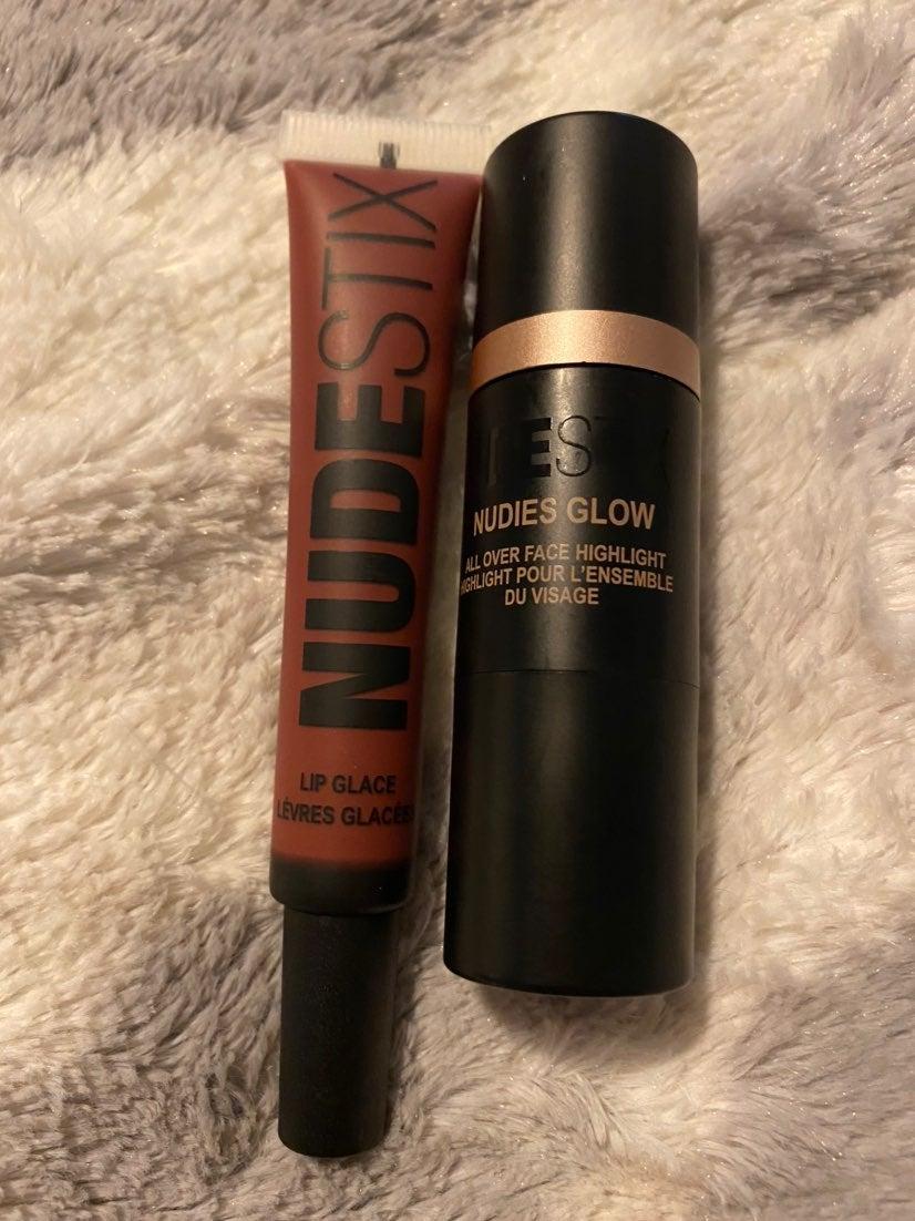 Nudestix lip glaze and nudies glow