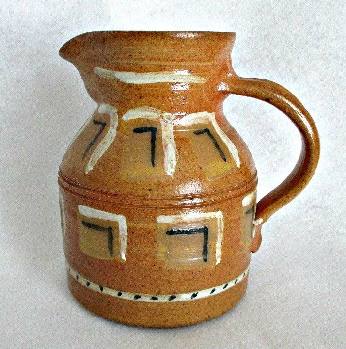Studio Pottery Jug Signed 1991 Haystack