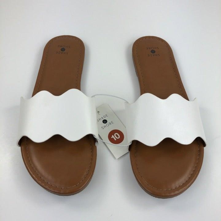 Women's Slide Sandals White Size 10