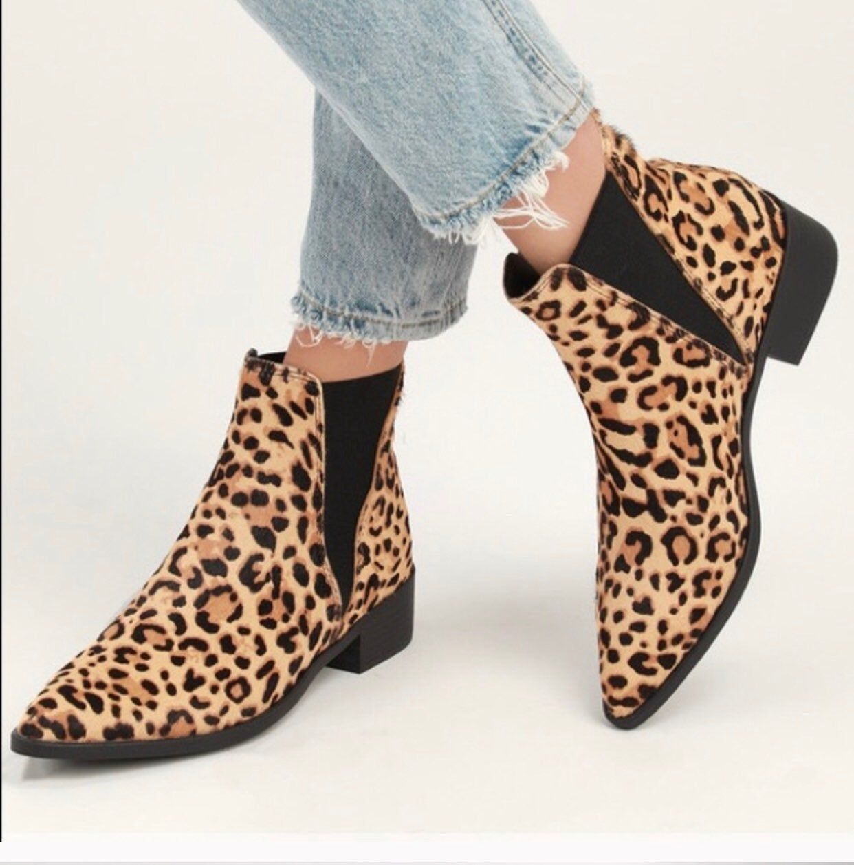 Steve Madden Jerry Leopard Calf Booties