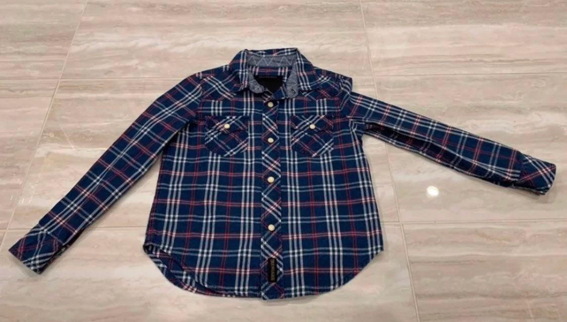 Boys true religion button up shirt sz 4
