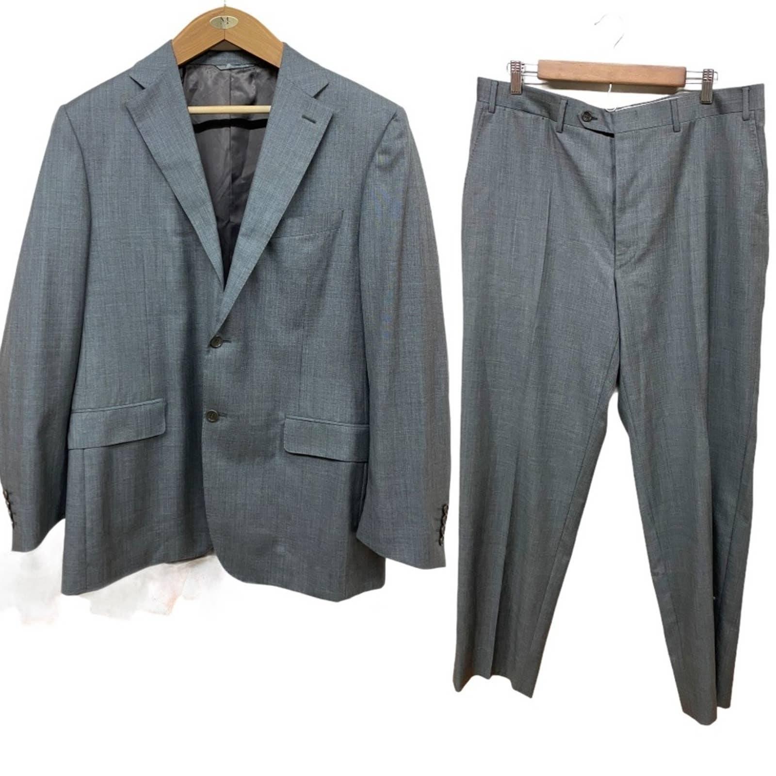 Canali Gray Wool Suit Jacket Pants Set