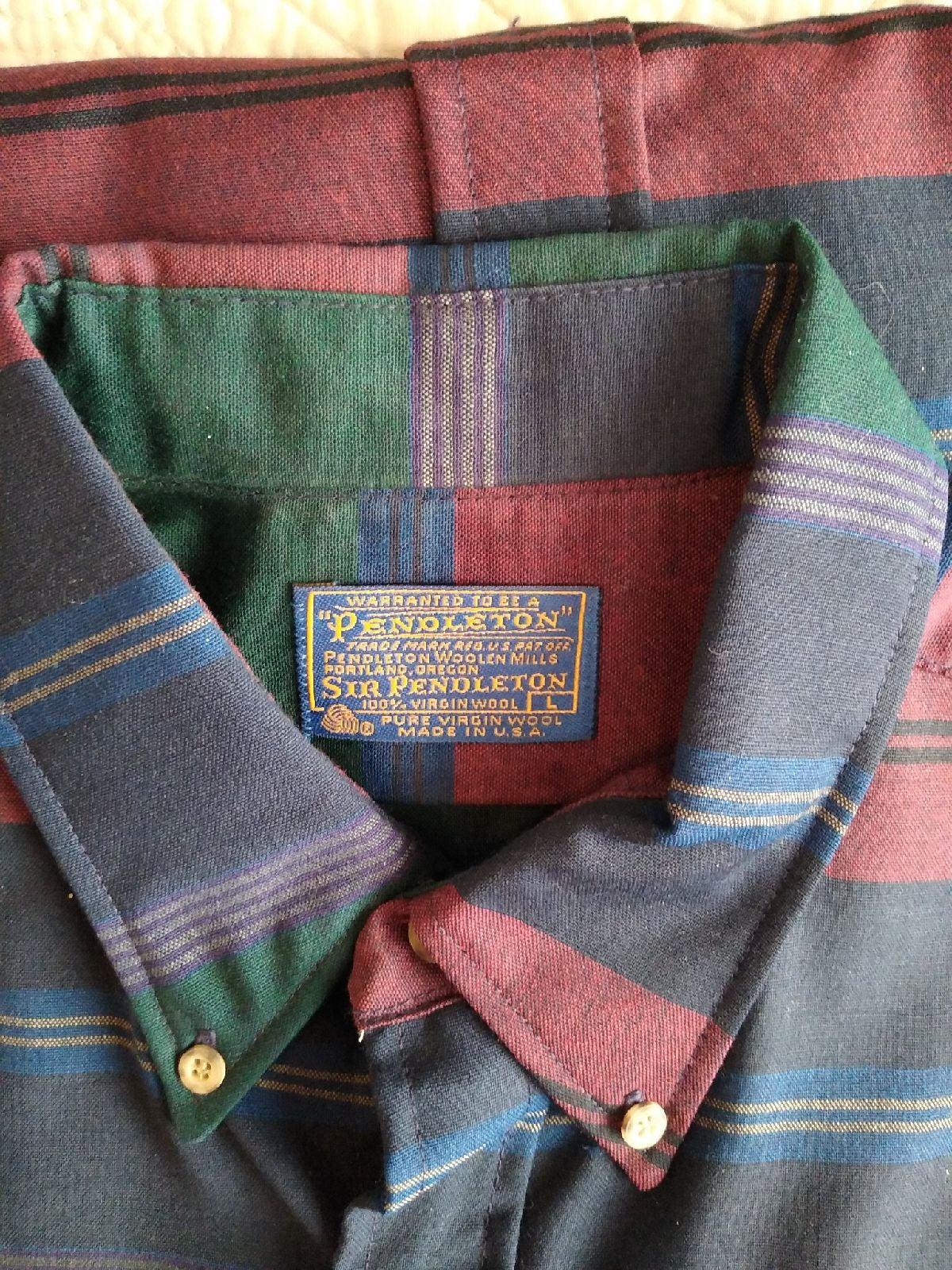 Sir Pendleton Men's L Wool Dress Shirt