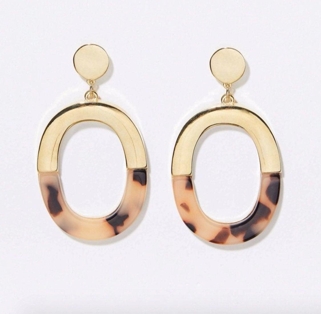 NWT LOFT Tortoise Shell Drop Earrings