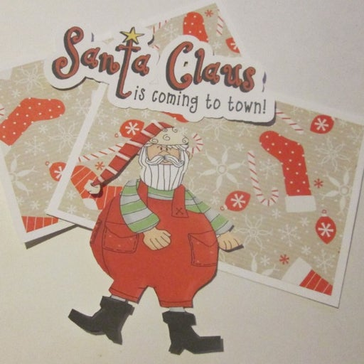 Santa Claus Is Coming To Town b - Scrapbook or Card Set