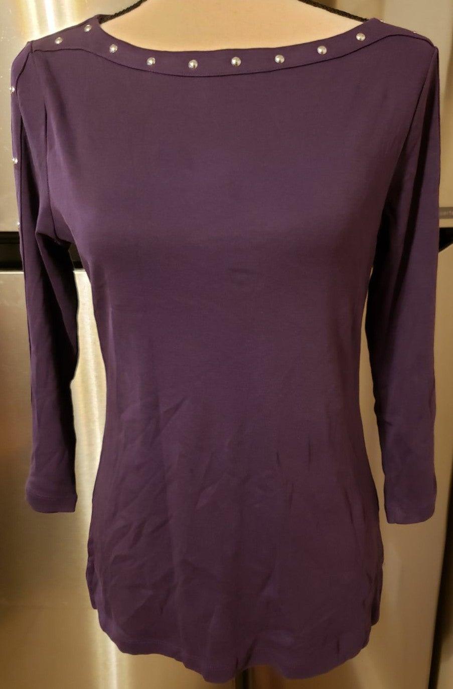 Karen Scott 3/4 sleeve top