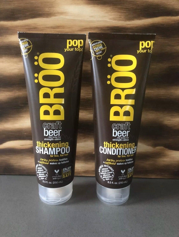 Broo Thickening Beer Shampoo and Conditi