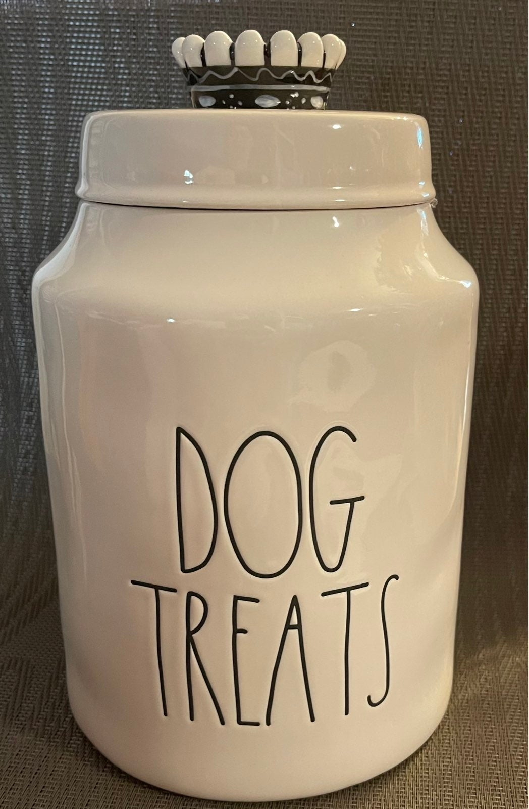 Rae Dunn DOG TREATS Canister