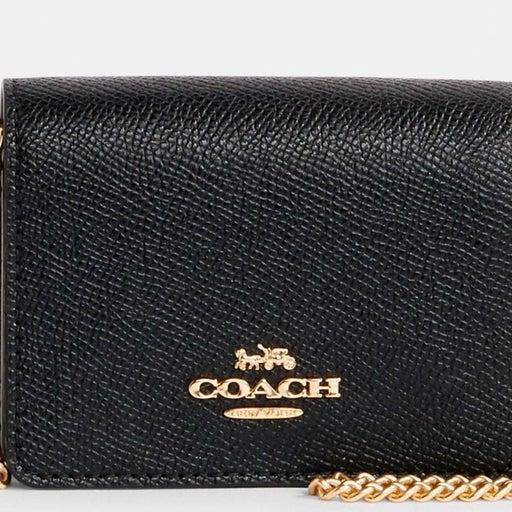 NWT BLACK COACH Mini Wallet On A Chain